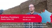 Mathieu Poixblan élève 100 prim'holstein sur une SAU de 165 ha.