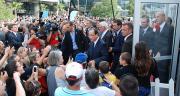 François Hollande arrivant au Sommet de l'élevage à Cournon d'Auvergne le 2 octobre 2013. Crédit photo : N. Tiers/Pixel Image