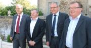 De gauche à droite : Hervé Scoarnec, Michel Foucher, Maxime Vandoni, Hubert Garaud. Photo : Nathalie Tiers/Pixel image.