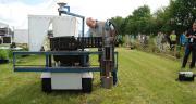Équipé d'une balise GPS et d'une caméra, le robot RUUD repère la présence de rumex sur 1,80 m de largeur. Photo N. Tiers/Pixel image