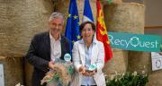 Pierre de Lépinau, directeur d'Adivalor, et Marcela Moisson, fondatrice et présidente de RecyOuest. Photo : RecyOuest/Adivalor