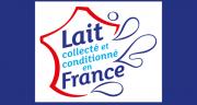 Le logo « Lait collecté et conditionné en France » lancé par Syndilait apparaîtra sur les briques et bouteilles de lait françaises ces prochaines semaines. Photo: Adocom