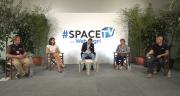 Le grand débat du Space a réuni Etienne Fourmon (éleveur), Gabrielle Dufour (Datafarm), Dominique Gautier (éleveuse) et Hervé Le Prince (Newsens). ©DR