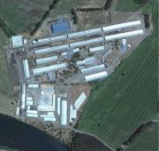Vue aérienne de la ferme Fundo El Risquillo comptant 6 500 vaches laitières. DR