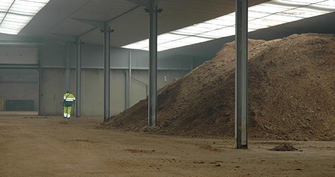 En 2014, la plate-forme de Saint-Pierre-du-Chemin, modèle de la future plate-forme de Beaupréau, a valorisé 44 000 tonnes d'effluents d'élevage en 40 300 tonnes de compost. Photo: Nathalie Tiers