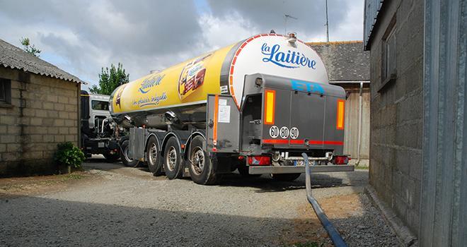 La production de lait est en baisse sur la fin d'année 2018.