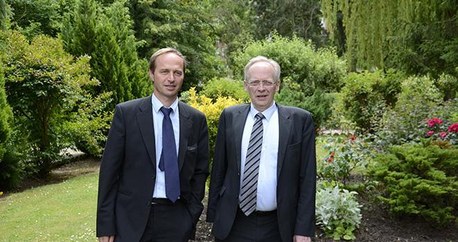 Alain Guillaume, président et François Desmons, directeur de Gènes diffusion lors de l'assemblée générale du 23 juin 2015. Photo: A.Cotens/pixel image