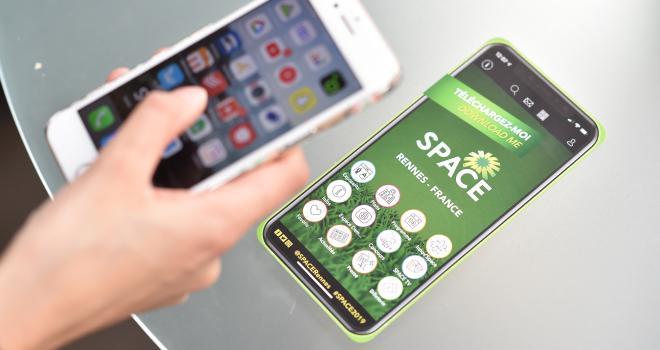 L'application mobile du Space 2020 sera disponible à partir de début août. CP : DR