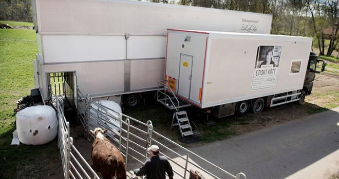 Des tests d''abattage à la ferme devraient démarrer d'ici la fin 2019 avec un camion prototype issu de l'expérience suédoise.