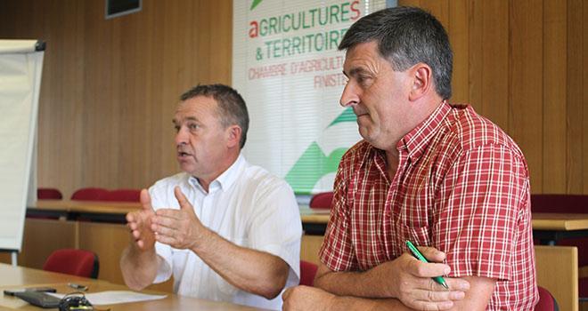 André Sergent (à gauche), président de la chambre d'agriculture du Finistère, et Pascal Prigent, membre du bureau. Photo : Chambre d'agriculture du Finistère