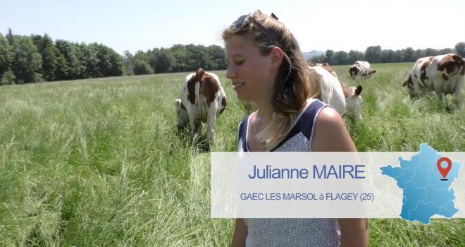 Julianne Maire s'est installée en 2019 sur la ferme familiale, dans le Doubs. CP : DR.