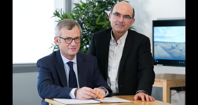 Ludovic Spiers et Arnaud Degoulet respectivement directeur général et président d'Agrial. CP : Philippe Delval