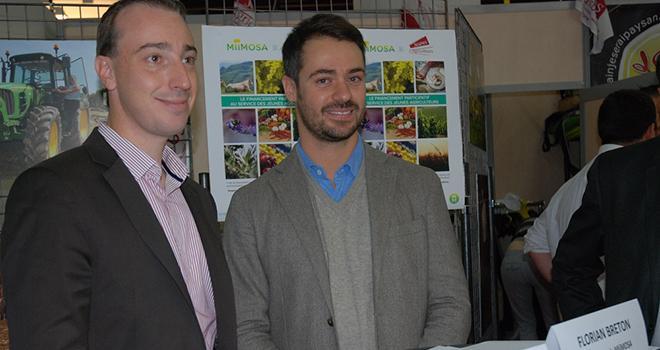 Thomas Diemer, président des Jeunes agriculteurs et Florian Breton, fondateur de Miimosa. Photo : N. Tiers/Pixel image