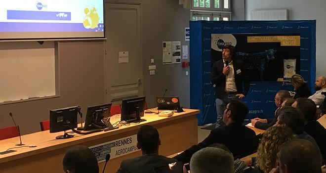 Jeudi 13 juin, à Rennes, Timac Agro a présenté sa nouvelle gamme de nutrition animale, qui se positionne sur la complémentation azotée des ruminants. Photo : DR