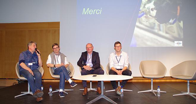 Bayer a annoncé l'arrivée du nouvel antibiotique Arentor®DC lors des journées de la Société nationale des groupements techniques vétérinaires à Nantes le 17 mai. ©M.-D. Guihard