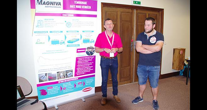 Stéphane Cadoret (à gauche) et Tony Tison expliquent les résultats obtenus avec le nouveau conservateur.