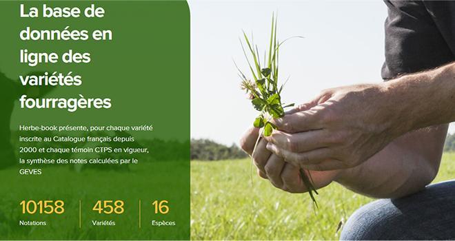 Le herbe-book donne toutes les caractéristiques des espèces et des variétés fourragères. CP :DR.