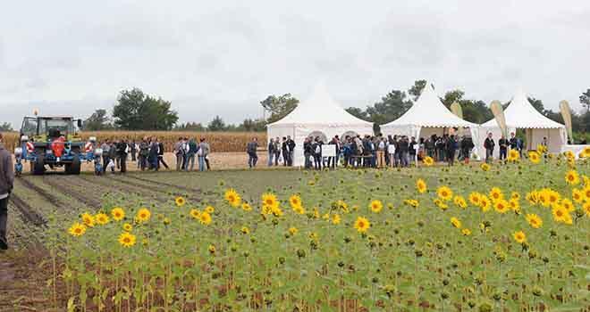 Le 22 septembre 2017, à Rion-des-Landes (40), le groupe coopératif Maïsadour organisait la 2e édition des Rencontres agronomiques et élevage. © Maïsadour