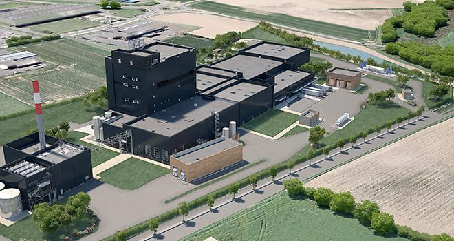 L'unité de production et sa tour de séchage du lait verront le jour en 2020 à Landivisiau (Finistère).