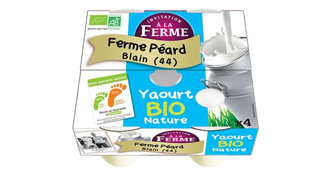 Le réseau Invitation à la Ferme a analysé l'empreinte carbone de ses yaourts. ©DR
